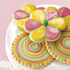 Grandma's Sugar Cookies - I'm pinning this only because I think the decorating is beautiful.  If someone would like to make these for me I wouldn't turn them away :)
