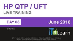 HP QTP/UFT  with VB Script (Day 03)  HP QTP/UFT is one of the testing automation tools for desktop based applications and mobile applications. ITeLearn, professional trainers in different software technologies, offers a live training on HP QTP/UFT.  For Registration: http://itelearn.com/event/uft-live-project/  #ITeLearn #HP #QTP/UFT #VBScript #LiveTraining