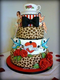 Rockabilly Wedding Cake.