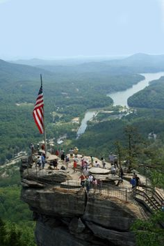 Chimney Rock and Lake Lure, North Carolina (photo: Leigh Scott).