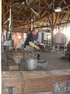 Making glass..made this photo in Leerdam at the glass factory.