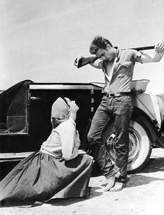 The crucifixion of James Dean.