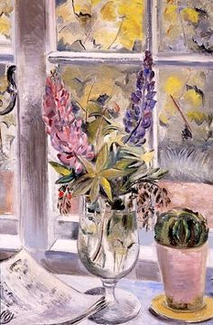PAUL NASH Lupins and Cactus (1927)