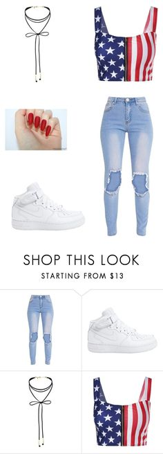 """4th of July outfit"" by fashion4eva717 on Polyvore featuring NIKE and Miss Selfridge"