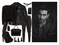 """""""Derek Hale 537"""" by mrswilkinson ❤ liked on Polyvore featuring Levi's, Wet Seal, Jeffrey Campbell, Givenchy, Rodial, Narciso Rodriguez and OPI"""
