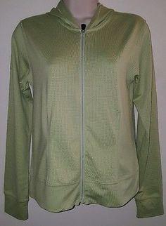 Women's Lole full zip hoodie jacket size XS green
