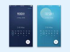Weekly Calendar App UI by Dolichocephalist
