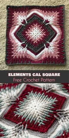 Elements Cal Square for Blankets, Pillows, Centrepieces - Free Crochet Pattern and Video Tutorial   Your Crochet