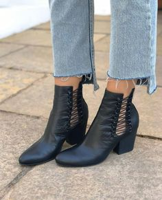 """765769efdcca5 Midas Shoes on Instagram: """"New season boots with daring cut outs and  elastic detail. Shop IMPISH online and in-store now #MidasShoes #Boots  #BlackBoots"""""""