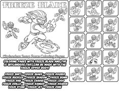 skylanders coloring pages freeze blade - photo#15