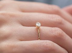Marquise Solitaire Diamond Engagement Ring  by anaisjewelrydesign