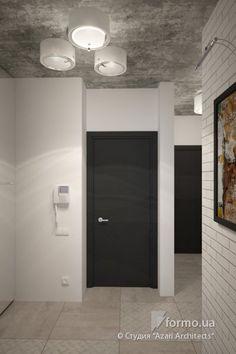 "Двухуровневая квартира в стиле лофт в ЖК ""Комфорт-таун""., Студия ""Azari Architects"", Холл/Коридор, Дизайн интерьеров Formo.ua"