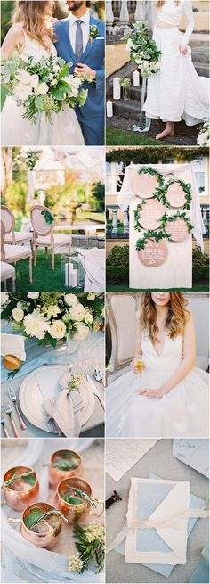 Featured Photographer: Blush Wedding Photography; chic wedding reception and ceremony details