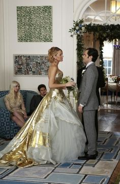 Dan and Serena - Gossip Girl. oMG HER wedding DRess!!!!!