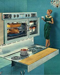 Inez's oven range was as big & shiny as her ego.