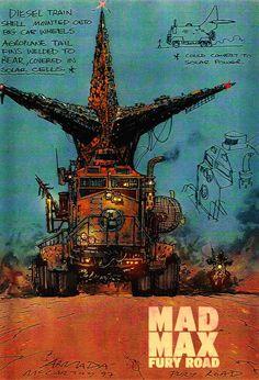 Mad Max Fury Road Concept Art
