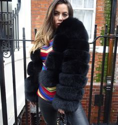 Black VENICE coat in stock Sizes UK 6-16 Please DM or email to order lolabellelondon@outlook.com