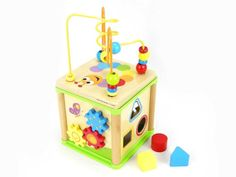 Goge 5 in 1 Activity Cube will provide hours of fun and stimulating play for toddlers as they explores the variety of activities. Activity Cube, Activity Centers, Sudoku Puzzles, Learning Shapes, Simple Website, Classic Toys, Fine Motor Skills, Educational Toys, Fun Games