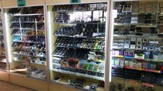 Smoke Shop Economy Wall Case Displays in Maple