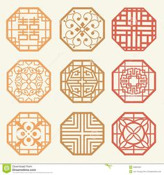 Korean Old Of Window Frame Symbol Sets. Korean Traditional Patte - Download From Over 46 Million High Quality Stock Photos, Images, Vectors. Sign up for FREE today. Image: 30663491