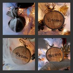A little bit of burlap goes a long way with these DIY ornaments:)