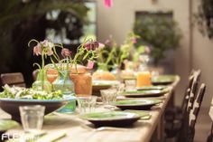 Beautiful table setting for the wedding