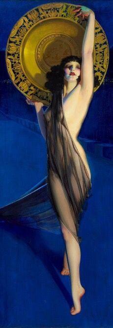 Vintage Illustration The Enchantress : Rolf Armstrong : PINUP Art Print Suitable for Framing - Pin Up Vintage, Art Vintage, Rolf Armstrong, Pinup Art, Pin Up Illustration, Arte Do Kawaii, Pin Up Girls, Art Prints, Earl Moran