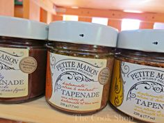 Tapenades from Petite Maison, at The Cook Shop.