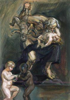 Johannes Phokela, Saturn Devours His Children Arte Horror, Horror Art, Creepy Old Pictures, Dark Art Paintings, Greek Mythology Art, Francisco Goya, Surrealism Painting, Creepy Art, Painting Wallpaper
