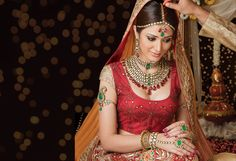 Indian Bride with antique style Indian Jewelry