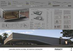 CentroCultural-Paraty-03-Prancha4 3d M, Best Boats, Layout, Animal Totems, Dory, Architecture, Desktop Screenshot, Competition, Presentation
