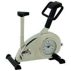 Miniature Exercise Bike Black Novelty Quartz Movement Collectors Clock - 9727 Quartz, Miniatures, Clock, Exercise, Bike, Watches, Watch, Ejercicio, Bicycle