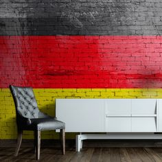 German Flag x Wallpaper East Urban Home German Language Learning, Deco, Urban, Wallpaper, Home, Ww2, Designers, Flag, Art Deco