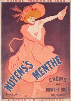 Historical provenance. Leonetto Cappiello Nuyen's Menthe 1902 Veronica Martin Gallery