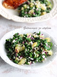 Salad with spinach and sesame   gotowanie ze stylem