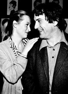 With Robert De Niro in 1980