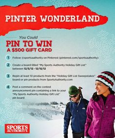 Enter for your chance to win!  #SportsAuthorityGiftList