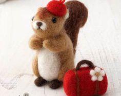 Squirrel & Travel Set Needle Felting Kit