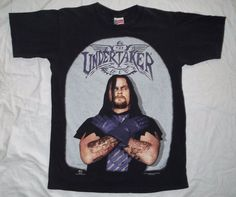 a9897750800d6 Rare Vintage 90s WWF The Undertaker shirt size L Wrestling Royal Rumble WWE   MadeattheBeach