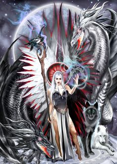 White Dragon, Red Dragon, Dragon Art, Yin Yang Tattoos, Metal Magazine, Renaissance Fair, Angels And Demons, Dark Art, New Art