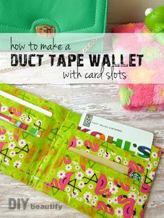 Duct Tape Wallet detailed tutorial | DIY beautify