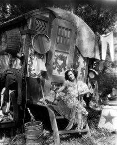 vintage gypsy caravan -- looks like Joan Crawford