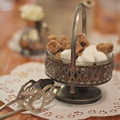 sugar cubes in vintage silver sugar bowl  Diary of Ange: Maddison Cottage Guildford dessert High Tea french pink Marie Antoinette style cakes and cupcakes   http://www.diary-of-ange.com/2015/03/maddison-cottage-guildford-high-tea.html