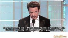 Oh Robert Downey Jr. I love thee.