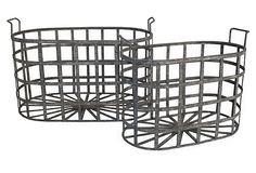 Artful Accents  S/2 Metal Baskets    $89.00