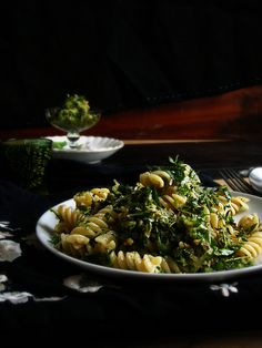 Parsley and thyme pesto with Grana Padano cheese and toasted walnuts