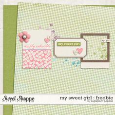 My Sweet Girl tiny kit freebie from Sugarplum Paperie