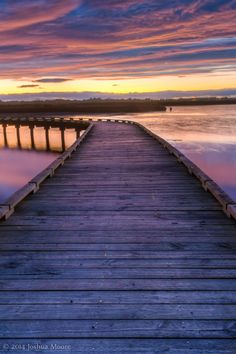 Boardwalk at sunset, Invercargill, New Zealand-extended family! Travel Around The World, Around The Worlds, Landscape Photography, Travel Photography, New Zealand Beach, Beach Boardwalk, Stairway To Heaven, South Island, Adventure Awaits