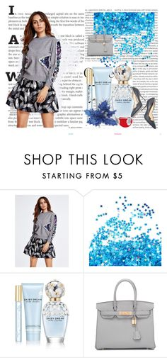"""""""Silver blue"""" by mercija ❤ liked on Polyvore featuring Oris, Marc Jacobs, Paul Andrew and Hermès"""