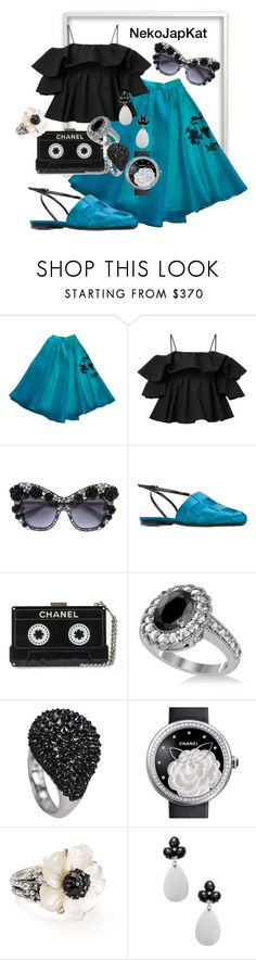 """""""aqua2"""" by neko-m-tucker-smith ❤ liked on Polyvore featuring Parlor, MSGM, Dolce&Gabbana, Marco de Vincenzo, Allurez, Chanel, Stephen Dweck and Rina Limor"""